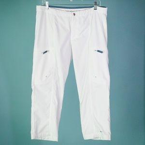 Nike Large White Capri Crop Athletic Pants